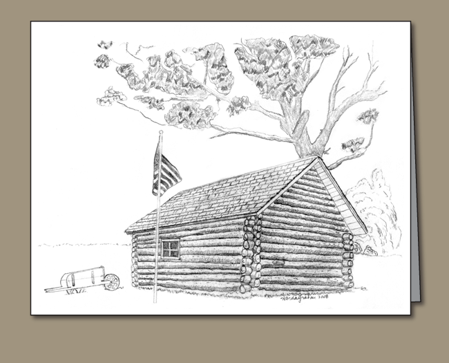 332-log-cabin-with-flag