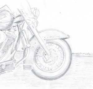 motorcycle, motorcycle wheel, pencil sketch of motorcycle,