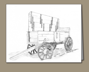 pencil sketch, corn husking wagon, corn husking, wagon, bang board