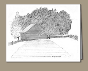 garden, corn crib,