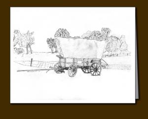 conestoga wagon, conestoga wagon card,