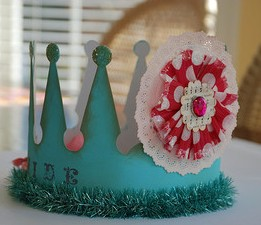 A cardboard crown, child's crown, princess crown in cardboard,