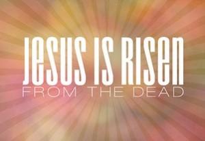 lettering, Jesus is Risen,