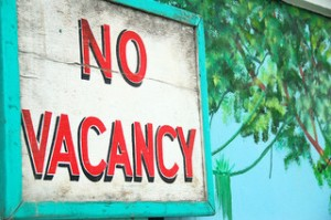 sign, no vacancy sign,