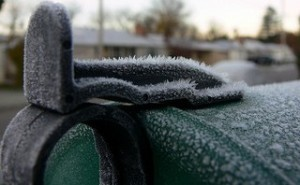 rural mailbox, rural mailbox latch, frosty mailbox latch,