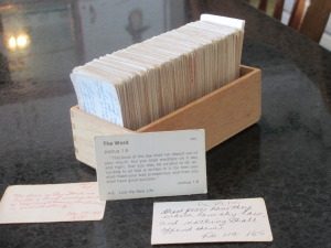 verse cards, Bible verses, verse card box, memory verses,