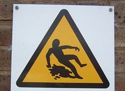 caution, caution for slipping, triangle, be careful of slipping,
