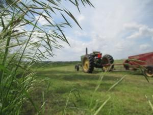 John Deere tractor, tractor, baler, square baler, New Holland baler, making hay, baling hay,