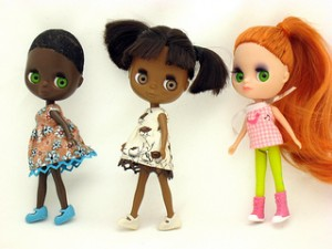 dolls, black dolls, white doll, bangs, short bangs,