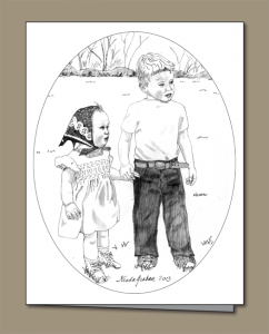 children holding hands, boy and girl in vintage clothing, boy, girl, vintage clothing,