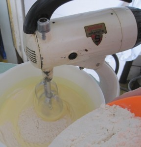 Mix Master, Flour, Anise cookie batter, Sunbeam Mix Master,