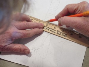 Straight-edge Ruler, Pencil sketching, pencil, ruler,