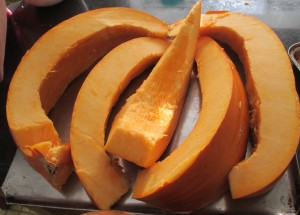pumpkin, pumpkin slices, cookie sheet,