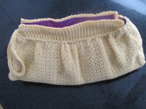 crocheted purse, homemade hand bag,