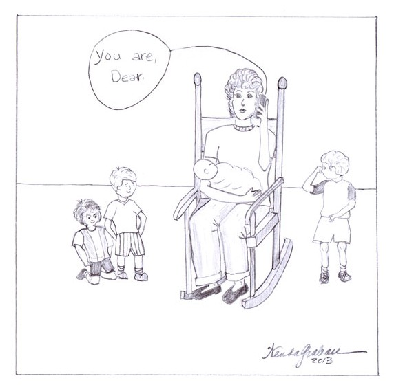 cartoon, Motherhood, rocking chair,