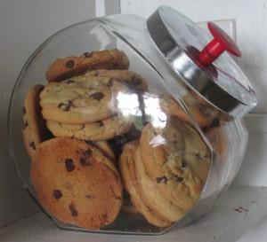 Cookie jar, Jumbo Chocolate Chip Cookies, cookies,