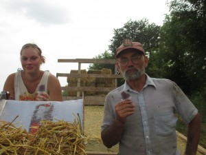 Break-time, popsicles, refreshment, hay wagon, baling straw, tupperware popsicle molds,