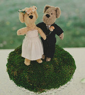 wedding, dolls at wedding, wedding teddy bears, bears,