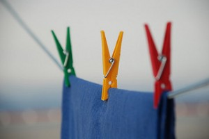 Clothesline, clothes pins, laundry drying on line,